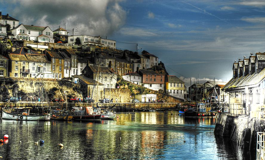 Cornwall Artist Mevagissey Harbour